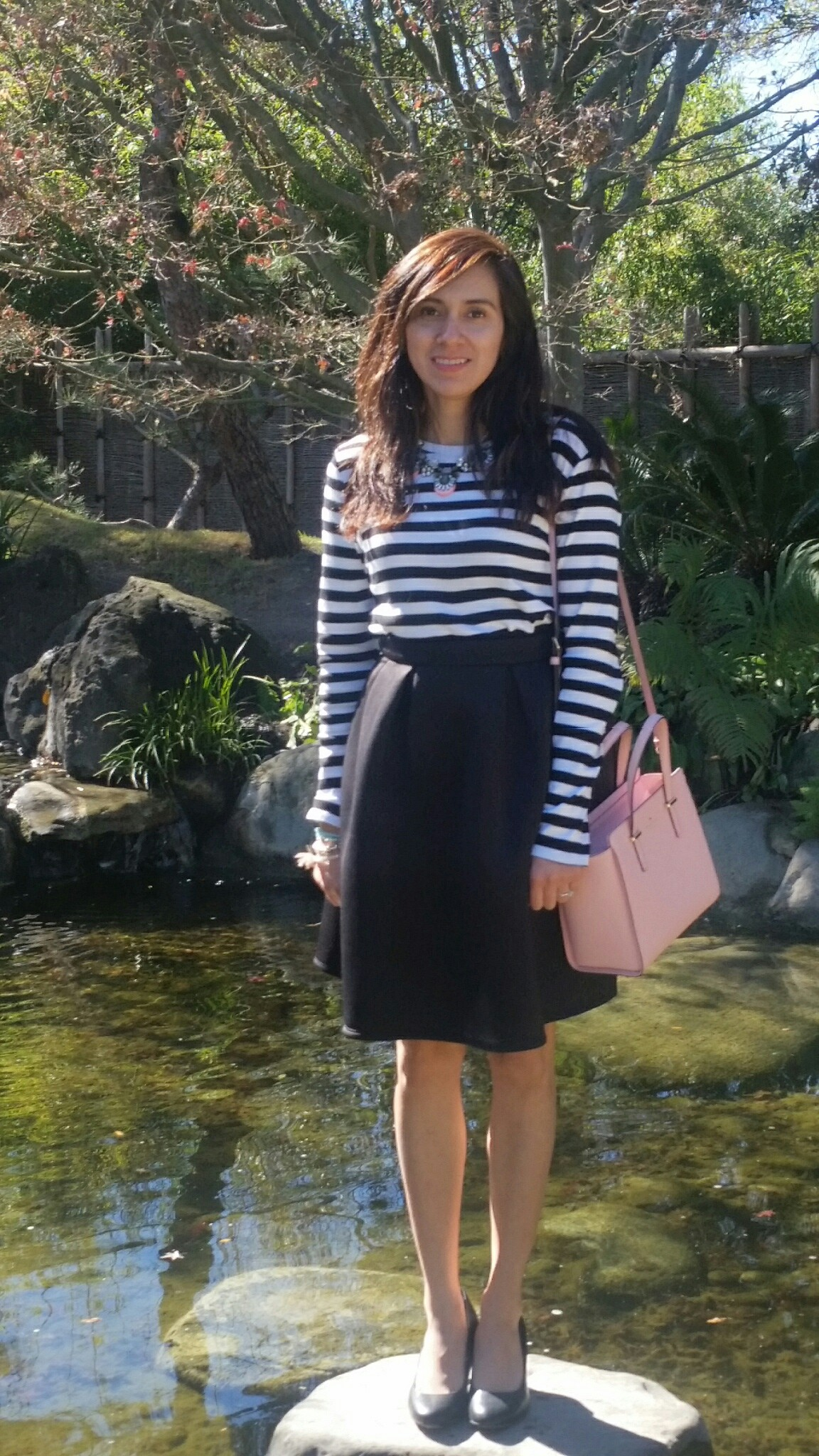 Black Circle Skirt, pops of pink, fashion blogger, shop my blog, kate spade bags