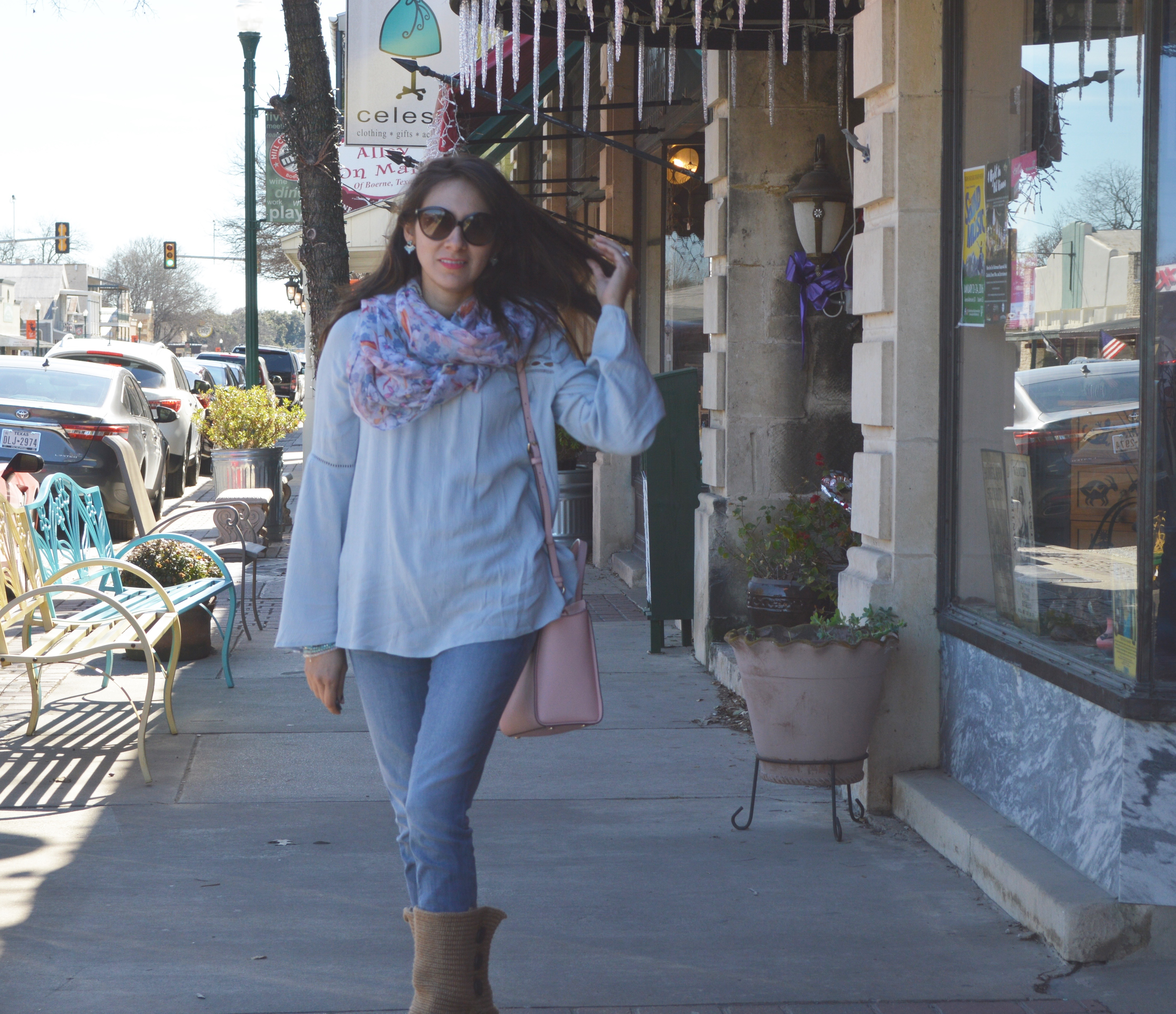 Bell Sleeve Top and Boerne, TX