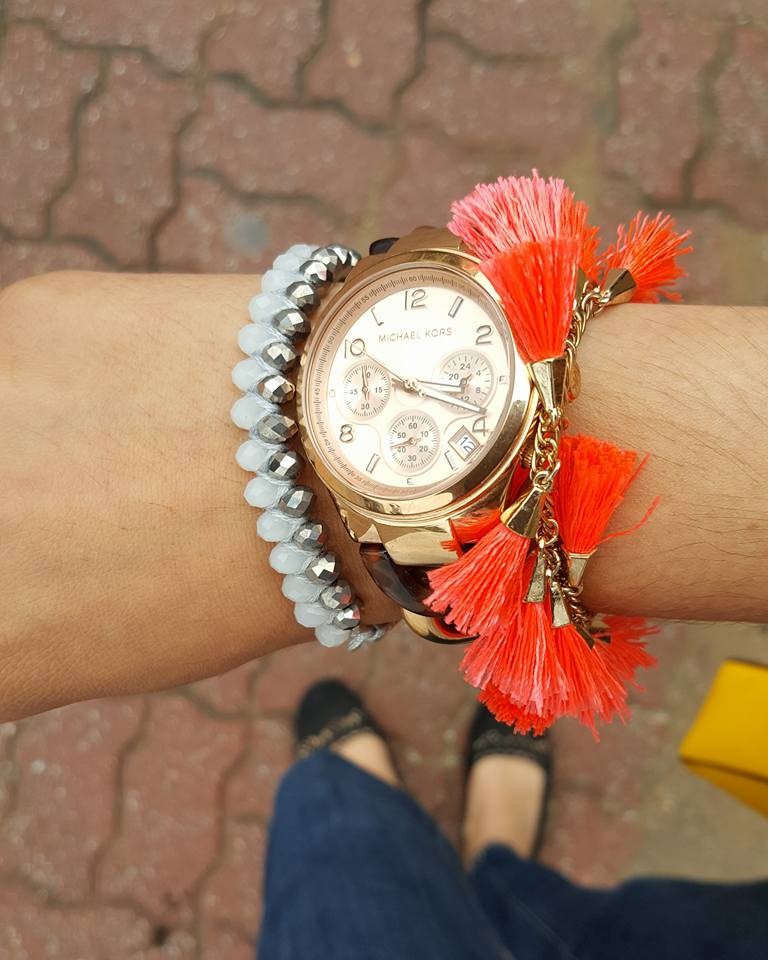 Boho Betty USA, Michael Kors watch, BaubleBar, Tassles