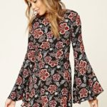 floral print, fall dress, contemperary dress, cutebrandik forever21