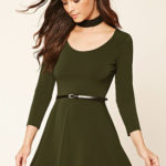 Dresses for the fall, olive green dress, fall style, women clothes, fashion, fun dresses