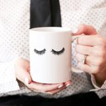 eyelashes coffe mug, coffee mug, fashion mug, girly mug, cute mug