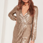 gold sequin, sequin dress, long sleeve dress, nye dress, new years eve dress