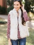 fur vest for under 100, what to wear, hot to fashion blog