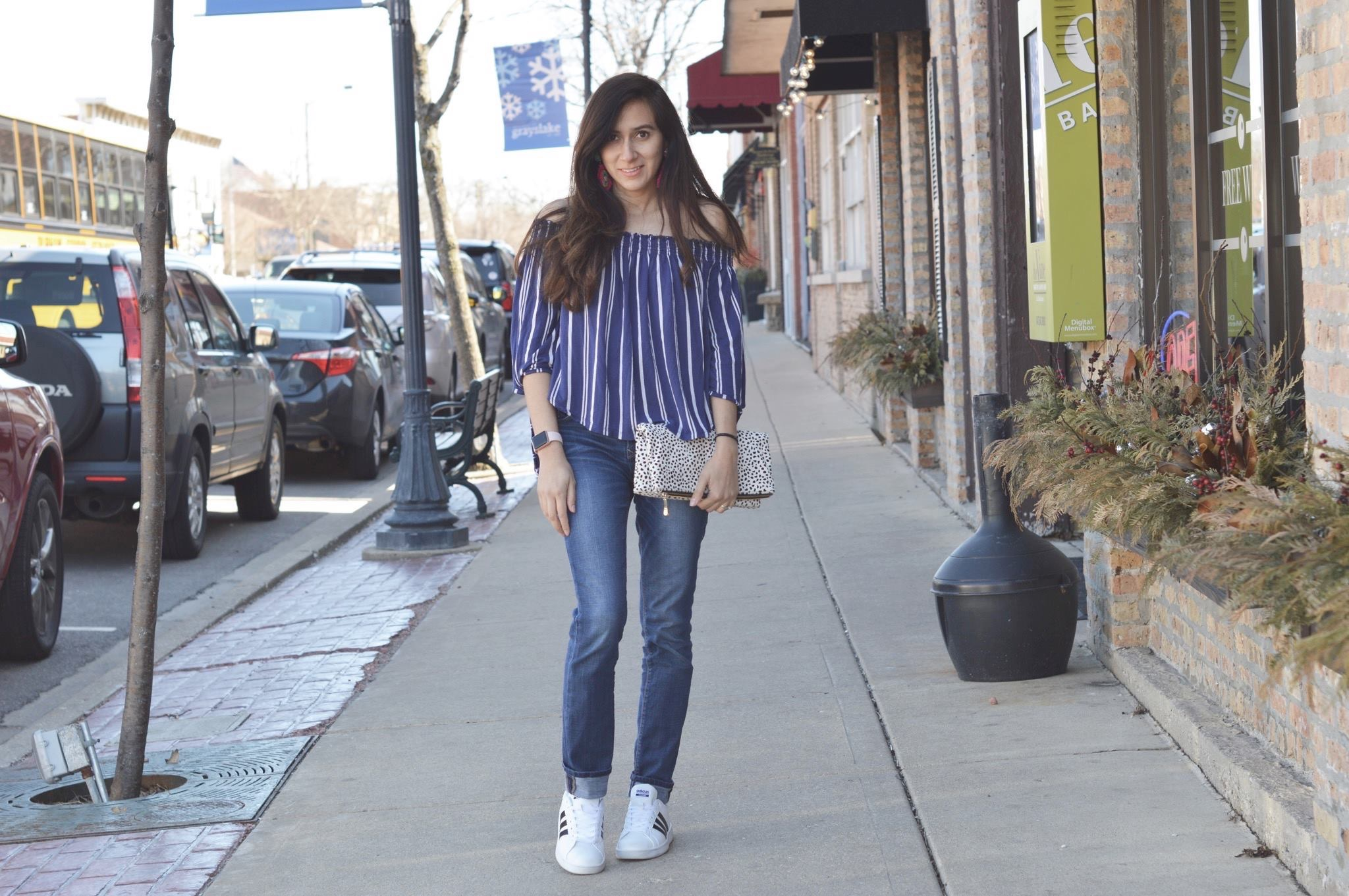 perfect OTS tops, Style, adidas, panacea, liketoknowit, Travel Size Beauty, Beauty Supplies, spring shopping, women clothes, bauble bar, statement earrings, spring fashion, spring fashion, shop my blog, shopping, shop what I wear, fashion blog, fashion blogger, fashion, statement jewelry, kohl's