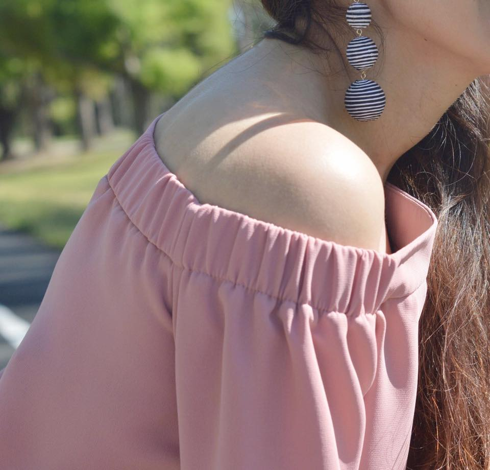 Off the shoulder top, on sale, Topshop, Spring tops, Nordstrom tops for spring, liketoknowit, spring shopping, women clothes, bauble bar, statement earrings, spring fashion, shop my blog, shopping, shop what I wear, fashion blog, fashion blogger, fashion, statement jewelry