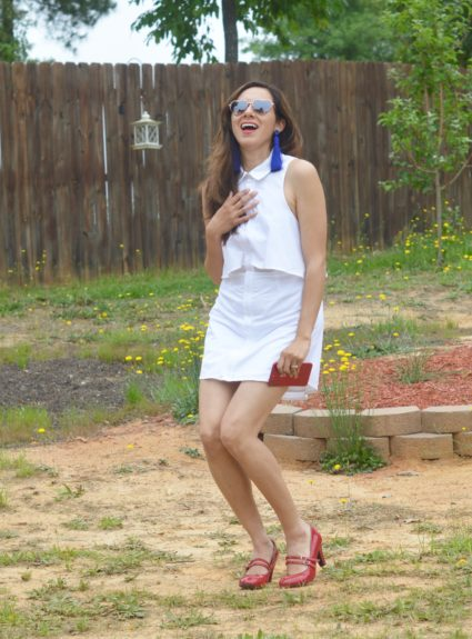 Memorial Day Weekend outfits +Tobi's Daryn Collared Shift Dress