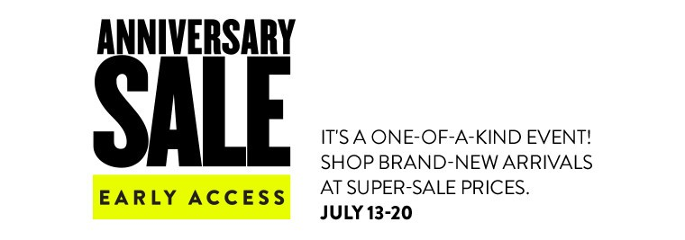 Nordstrom Anniversary Sale 2017, early access