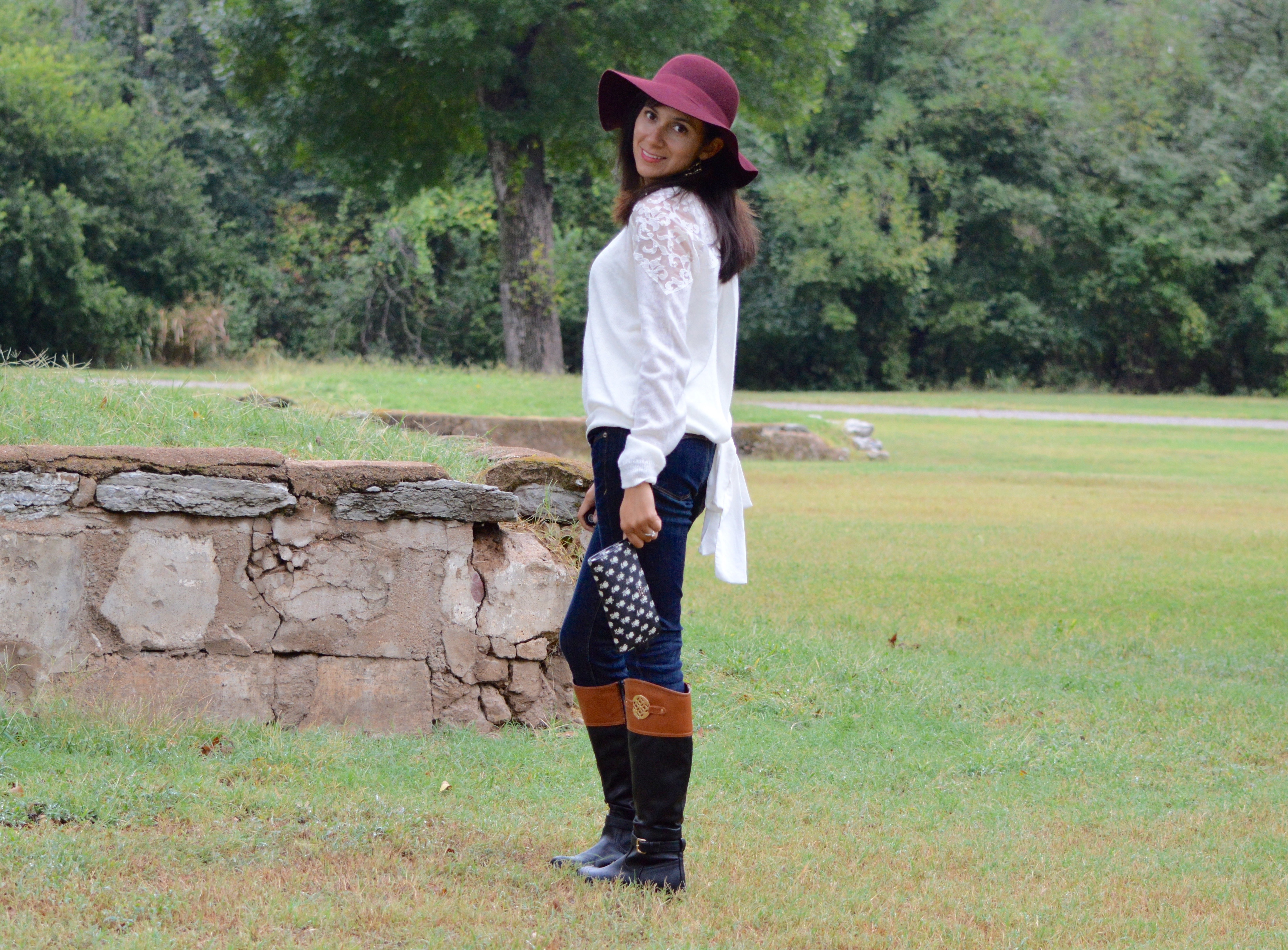 The Start of My Fall Fashion 2015!  Berry Floppy Hat <3