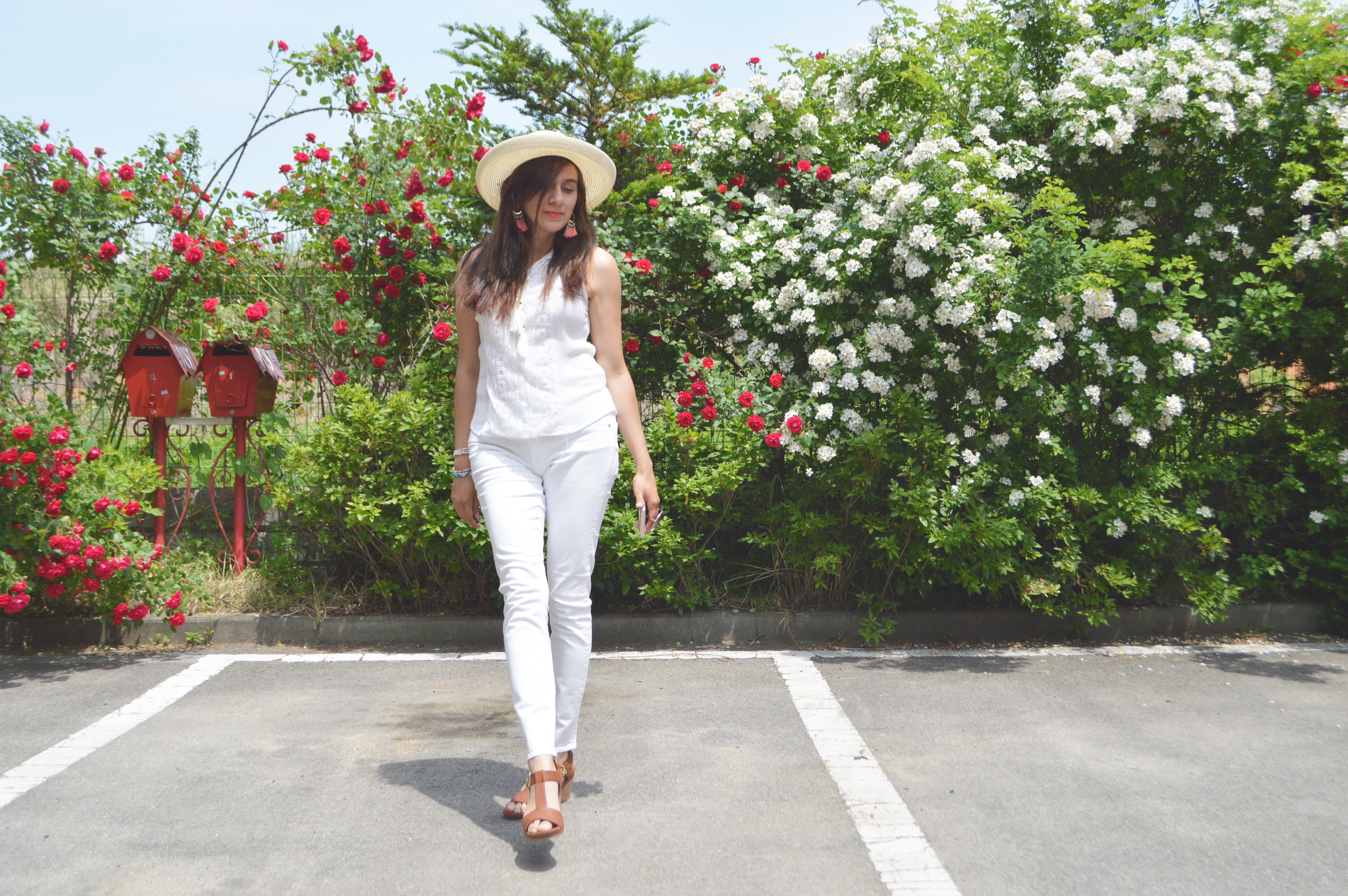 My White on White Look!