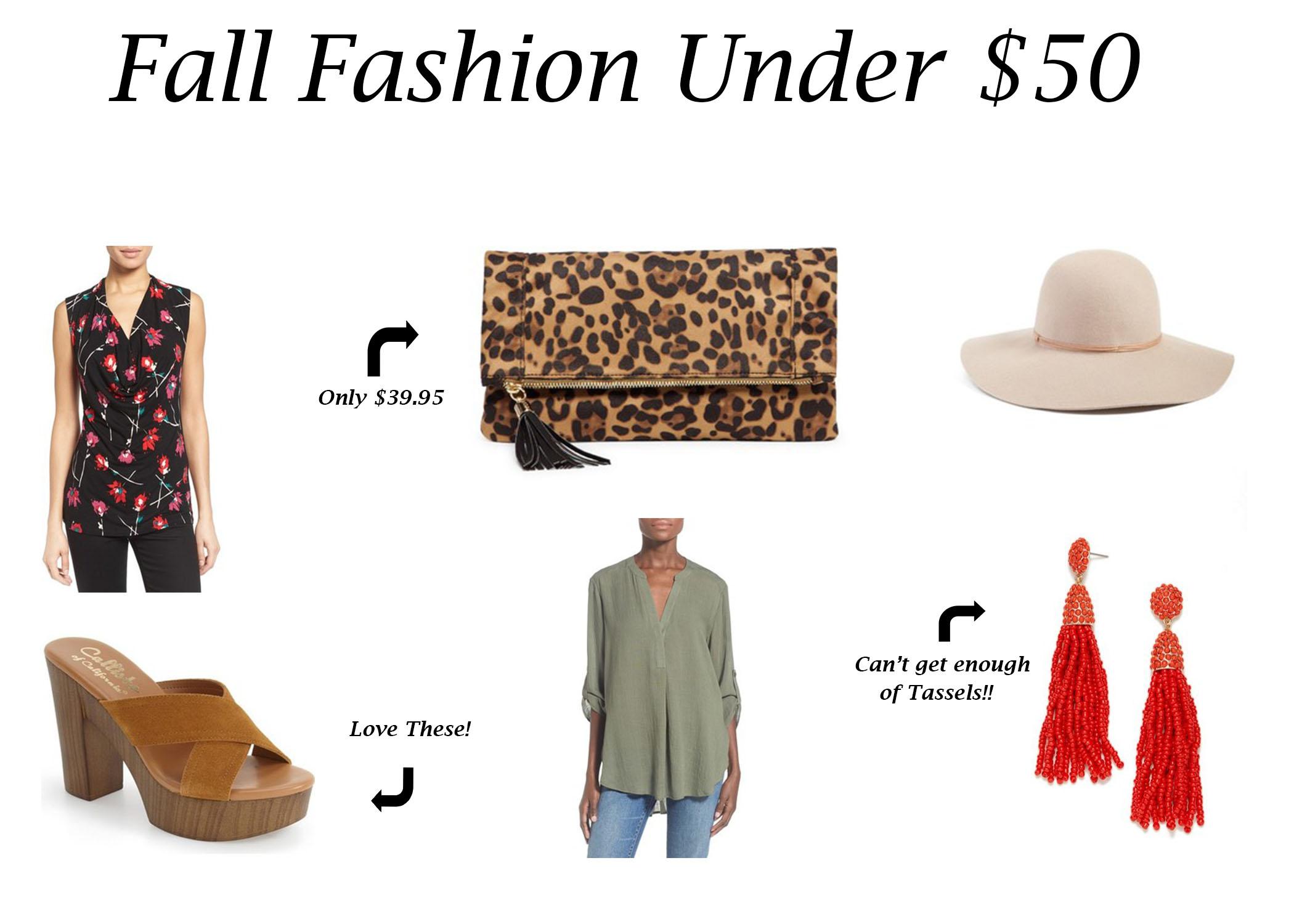 Fall Wishlist Under $50