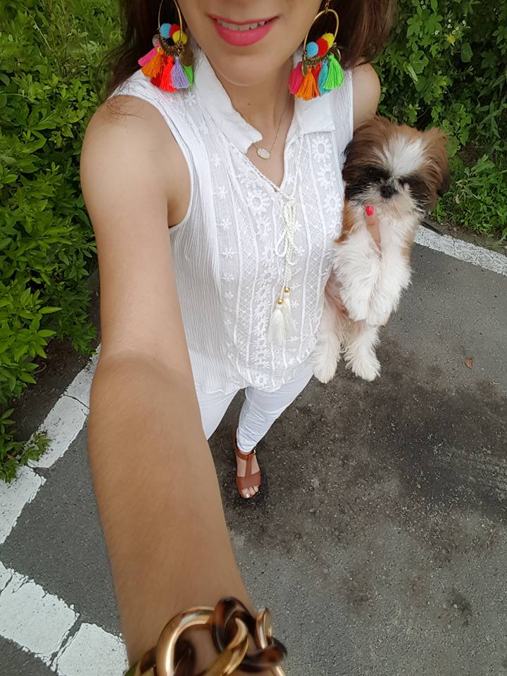 Jewelry Bean, cute pup, fashion blogger, ootd