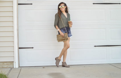 Olive Green Tunic for $27.90 + Exciting Life Update