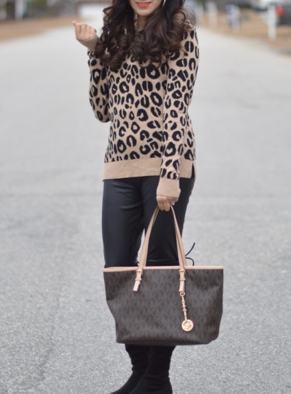 Leopard Cozy Sweater + First Week Of The Year